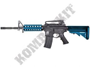 SR4PG BB Gun | M4 RIS Tactical Replica Electric Airsoft Rifle 2 Tone Blue | KOMBATKIT